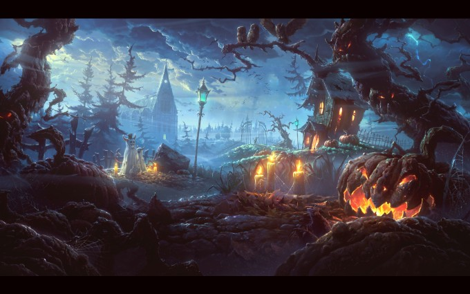 halloween wallpapers 3d cool