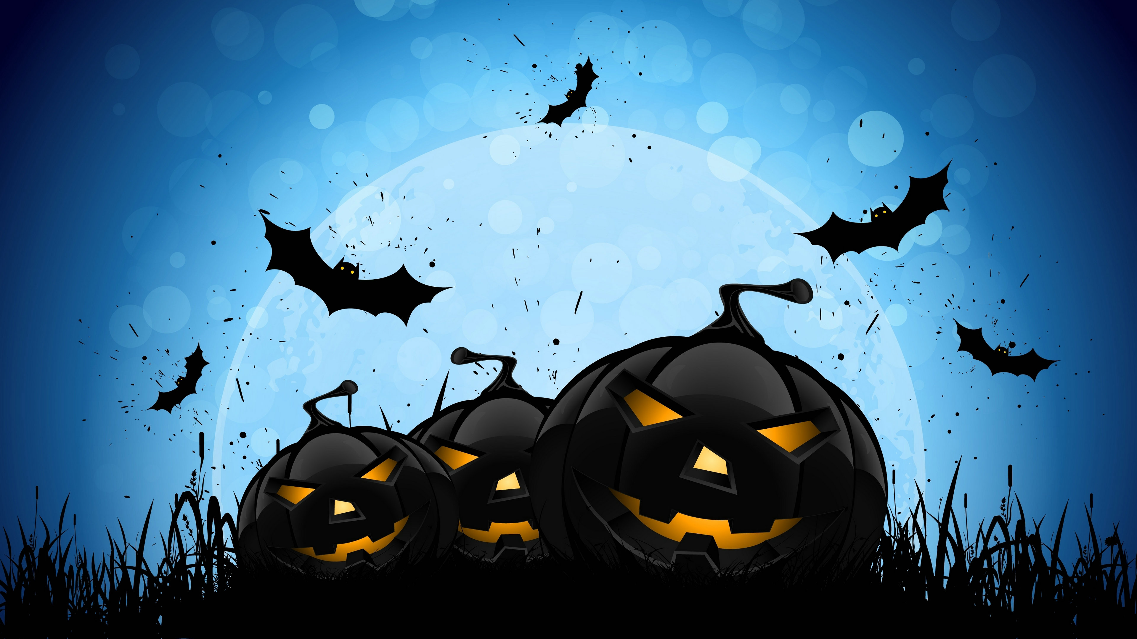 halloween wallpapers blue background HD Desktop Wallpapers 4k HD