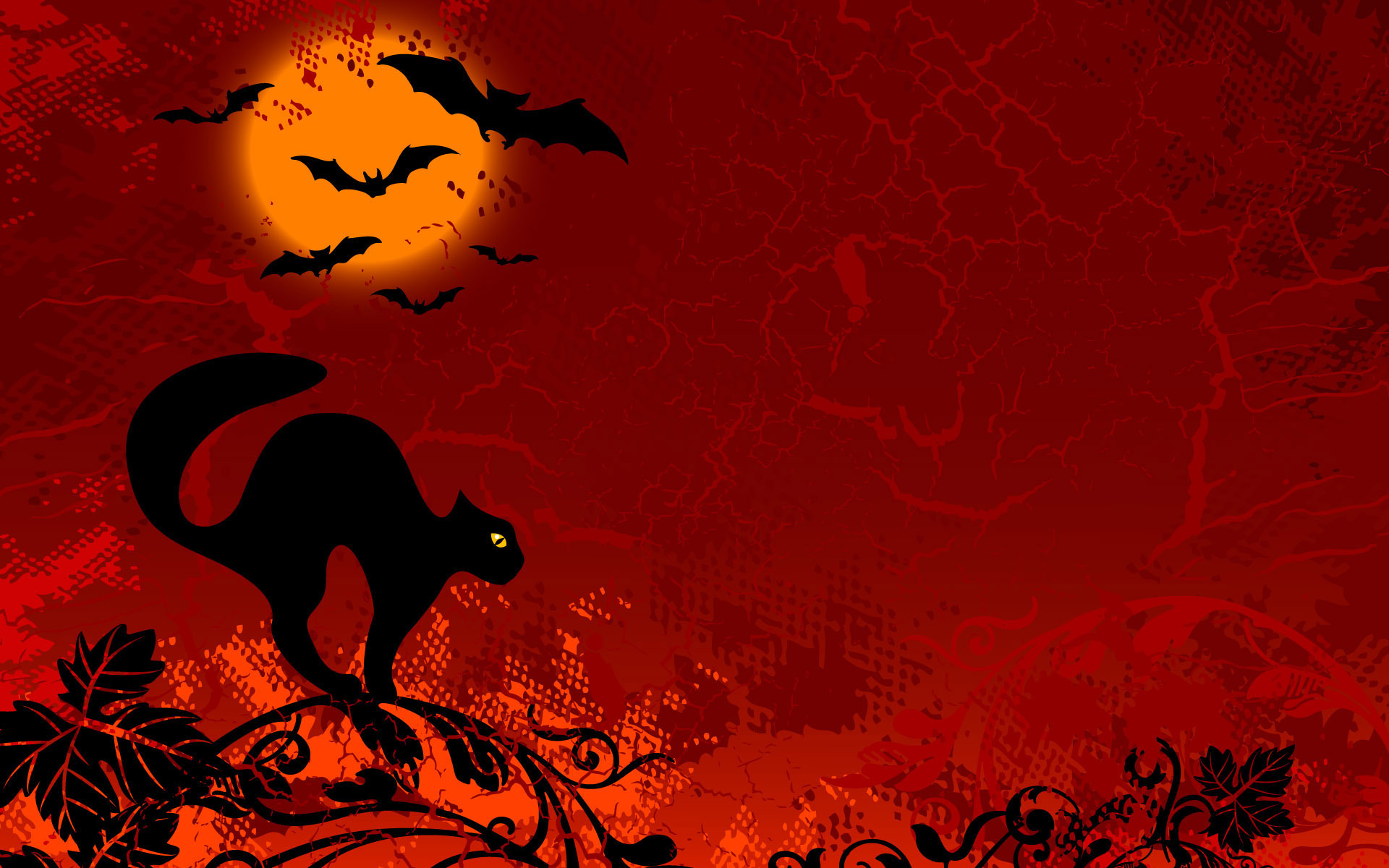 halloween wallpapers cat red