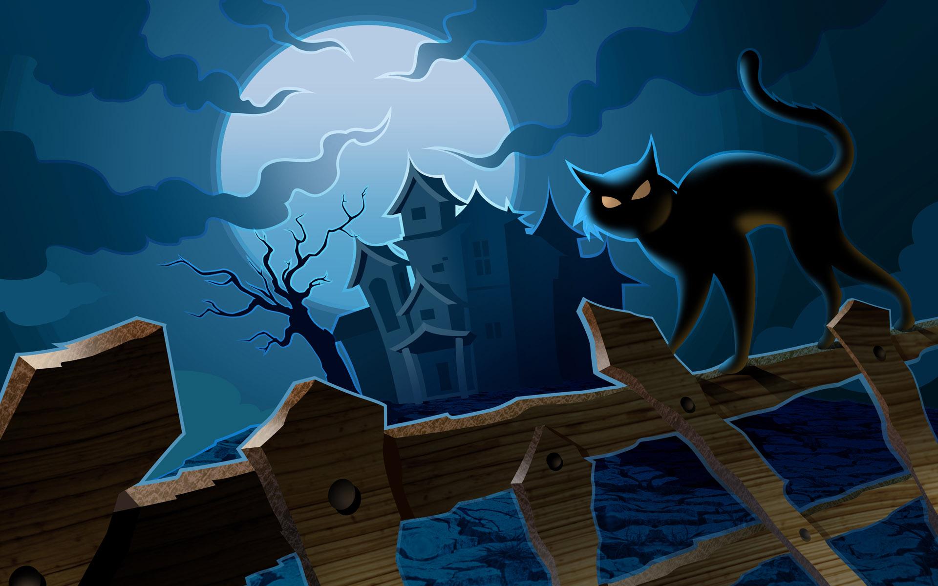 halloween wallpapers cat