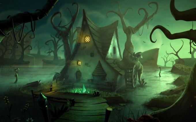 halloween wallpapers haunted