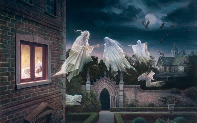 halloween wallpapers house