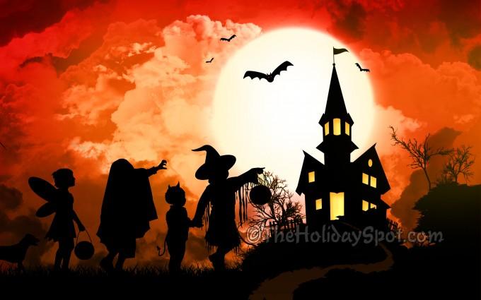 halloween wallpapers orange background