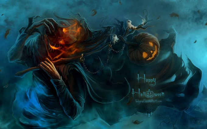 halloween wallpapers scarecrow