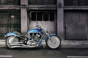 harley davidson wallpaper blue