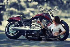 harley davidson wallpaper girl