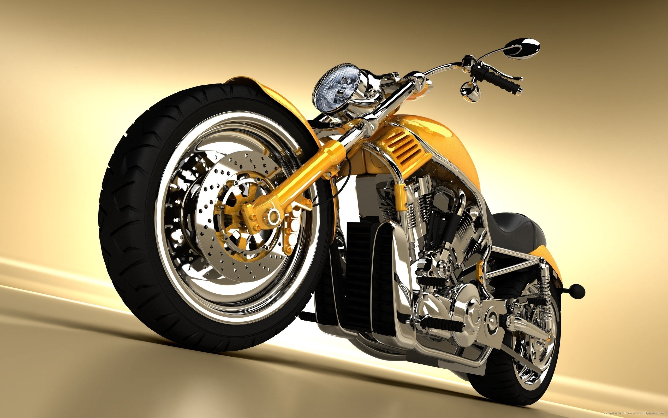 harley davidson wallpaper yellow