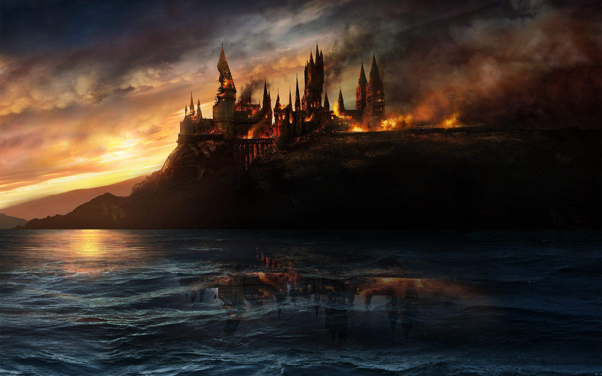 harry potter wallpaper fire