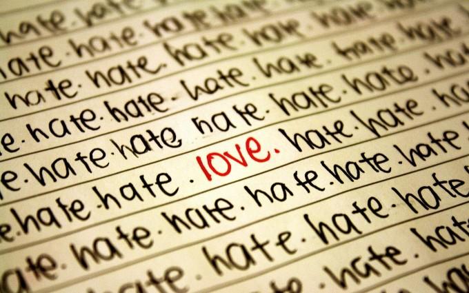 hate love wallpaper hd