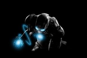 iron man wallpaper blue