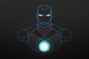 iron man wallpaper blue sketch
