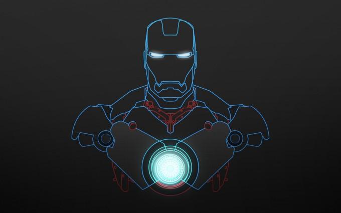 iron man wallpaper blue sketch