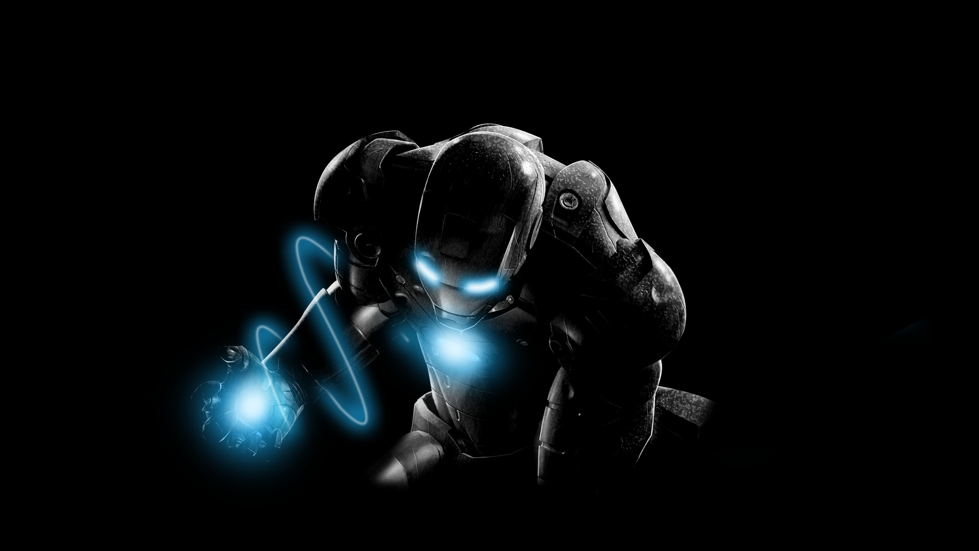 iron man wallpaper blue