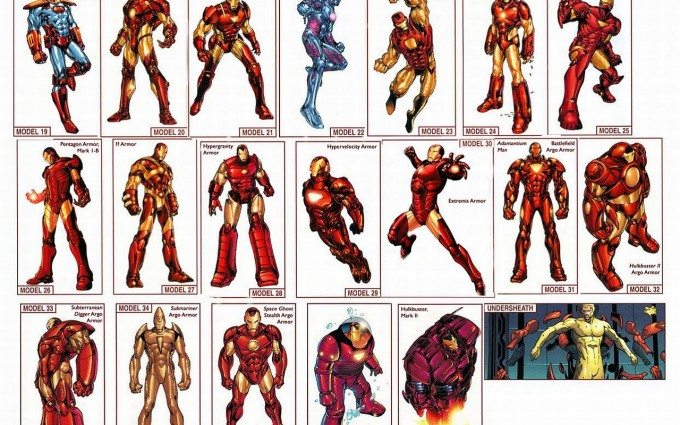 iron man wallpaper cartoon variants