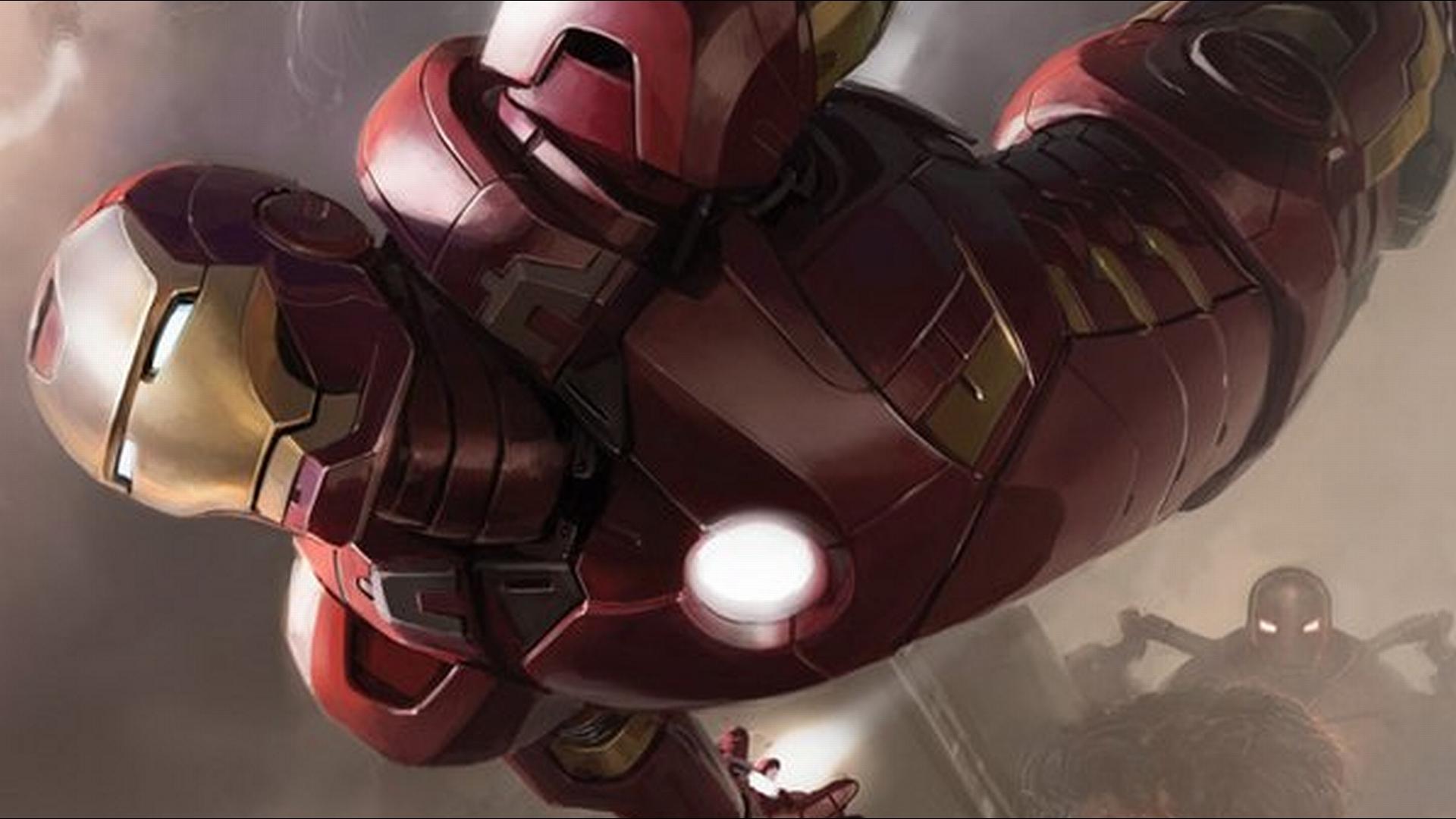 iron man wallpaper fly down