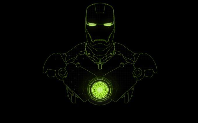 iron man wallpaper green