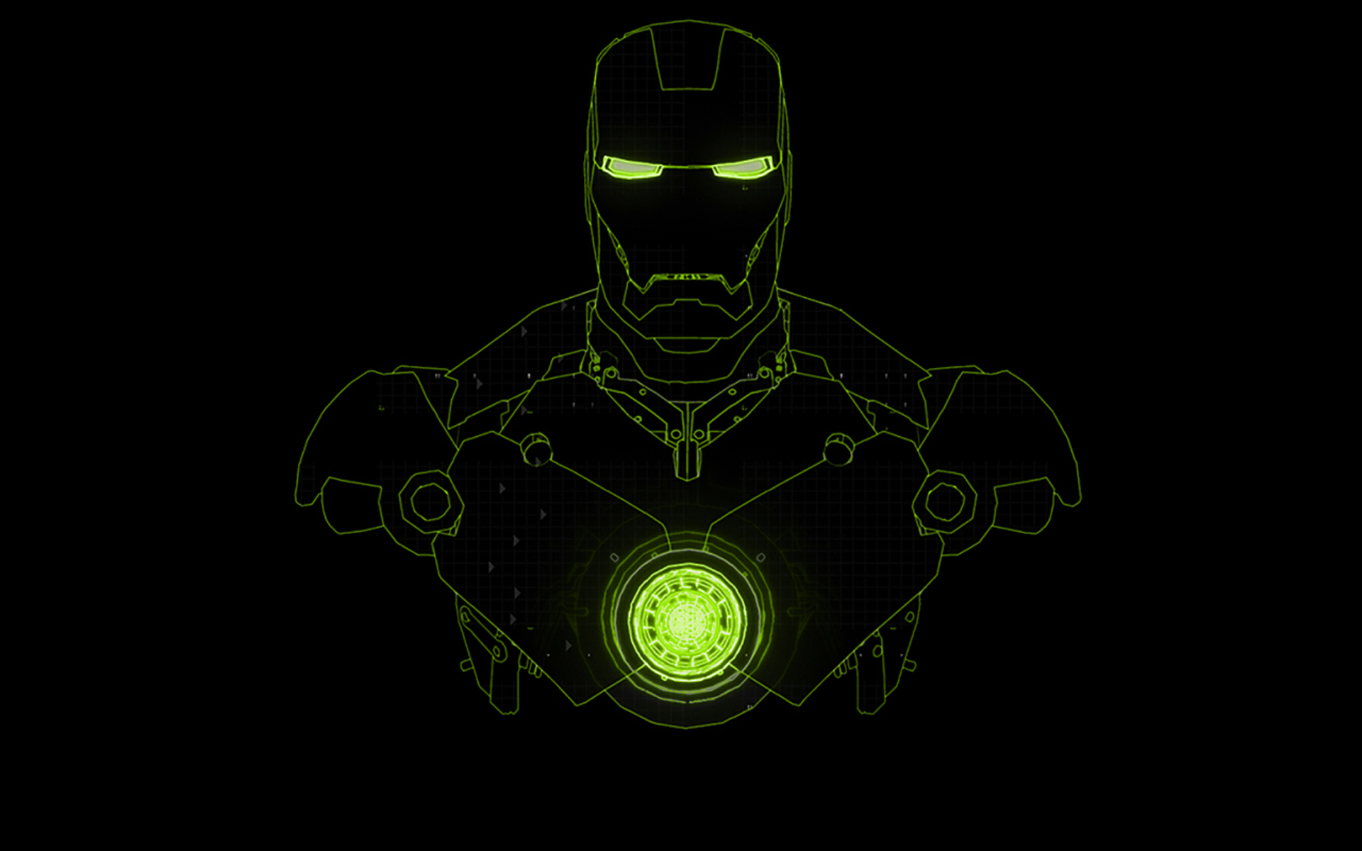 iron man wallpaper green