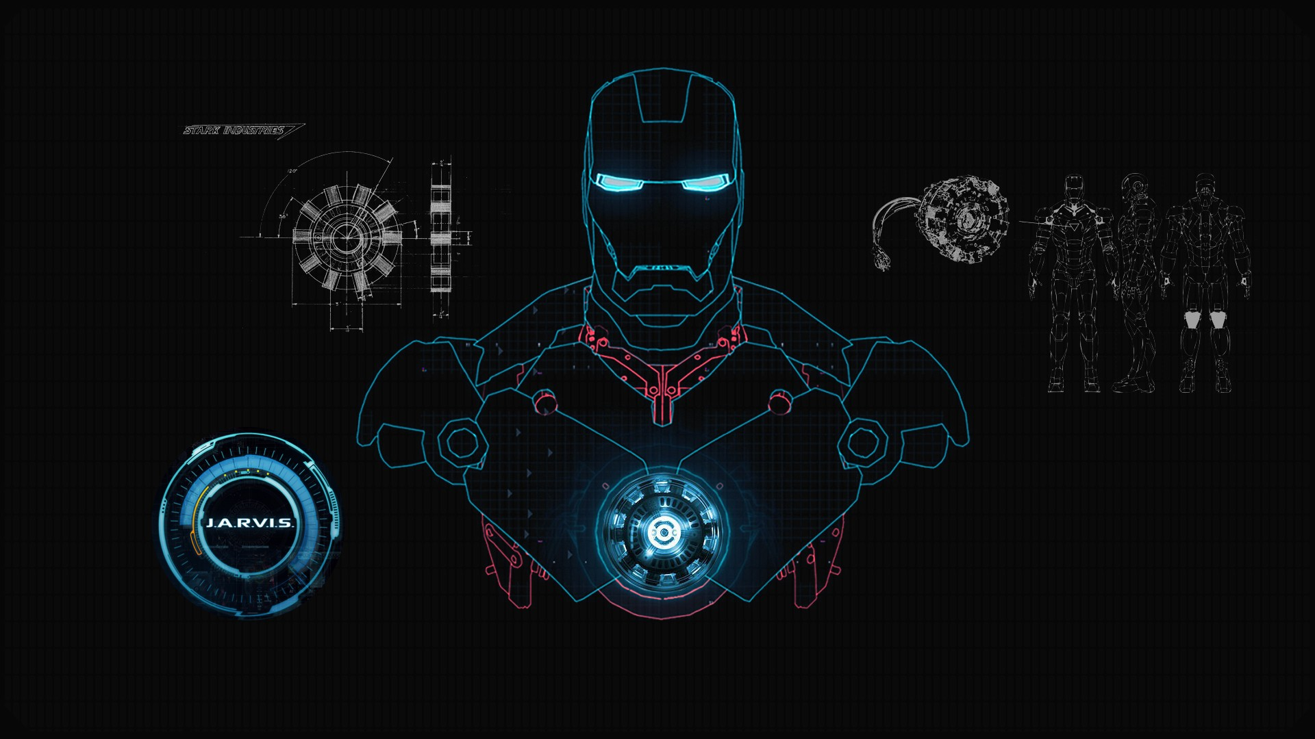 iron man wallpaper jarvis blue