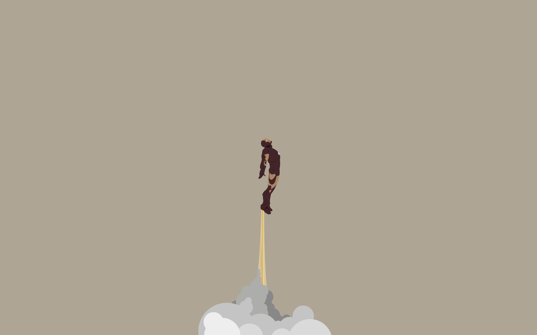 iron man wallpaper rocket high