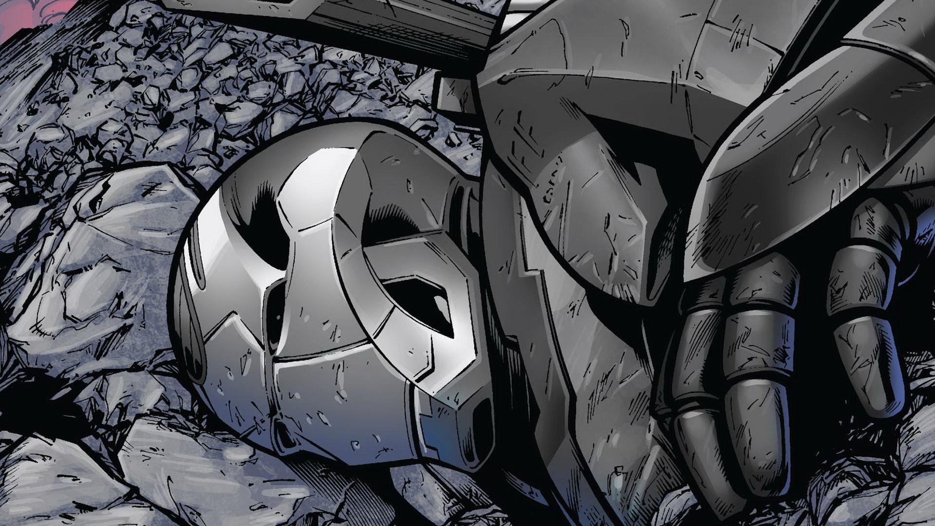 iron man wallpaper silver