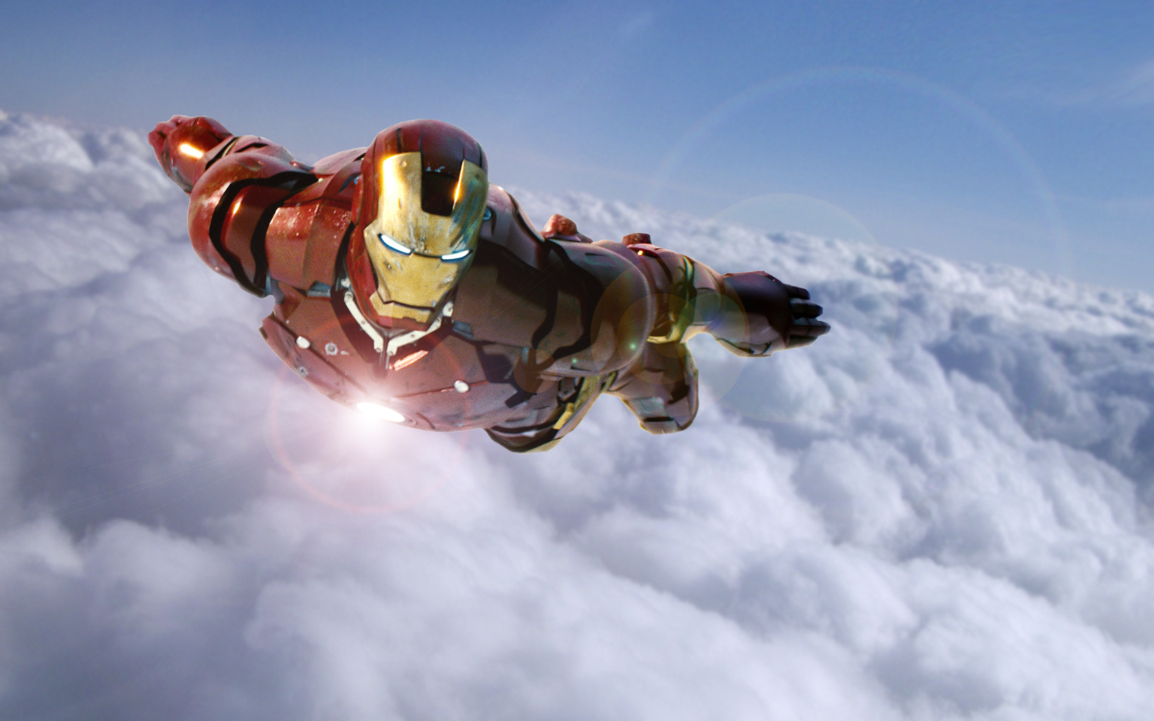 iron man wallpaper sky