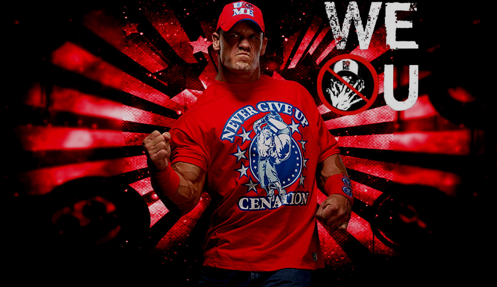 john cena wallpaper red