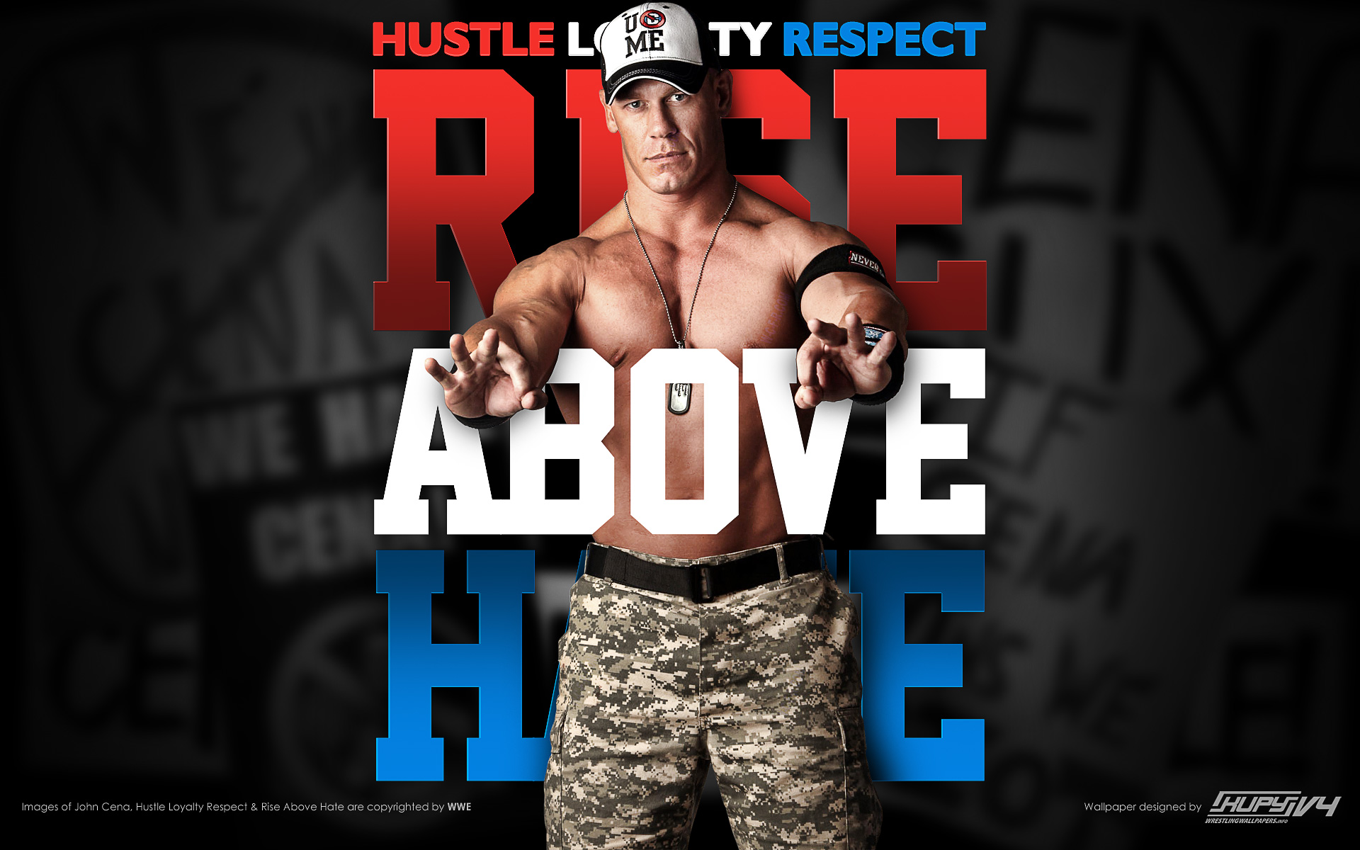 john cena wallpaper rise above