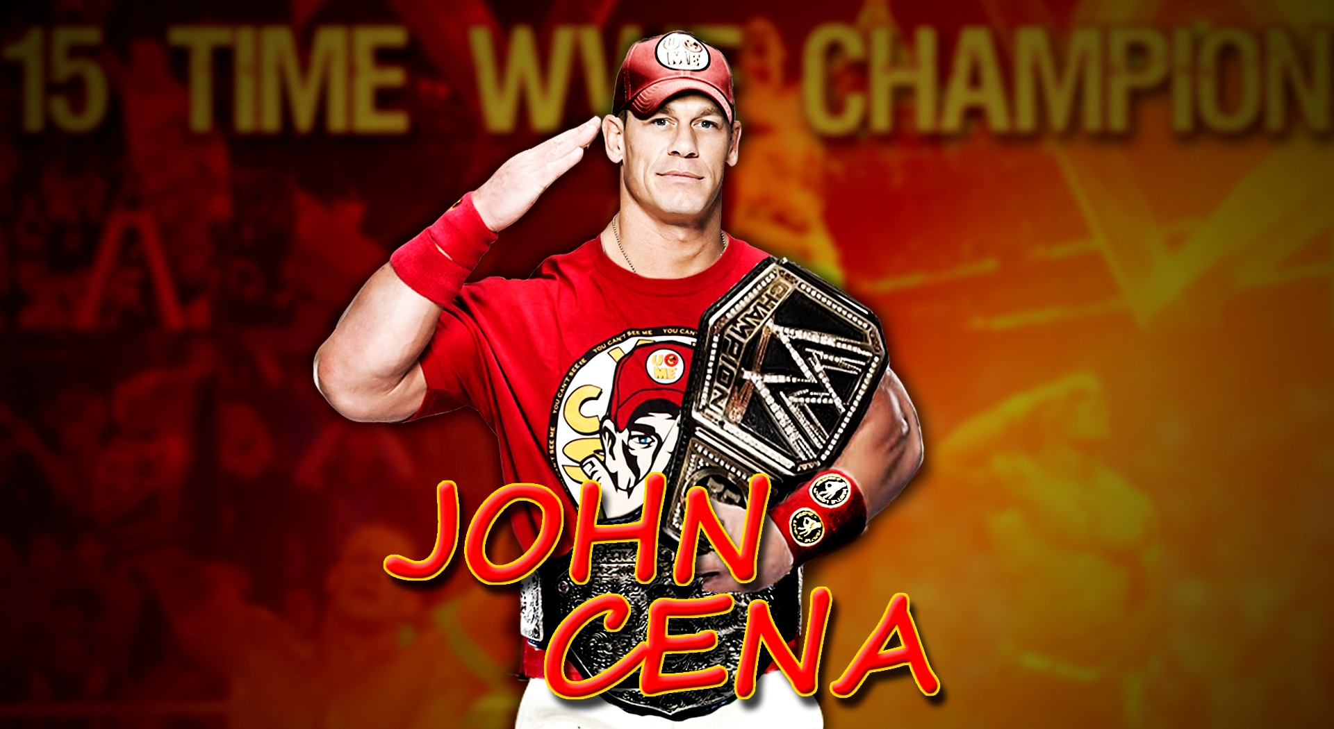 john cena wallpaper salut