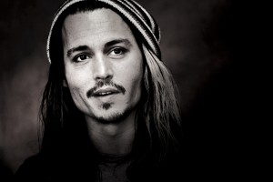 johnny depp wallpaper black and white