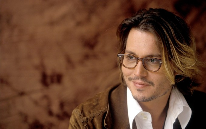 johnny depp wallpaper glass