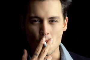 johnny depp wallpaper smoke
