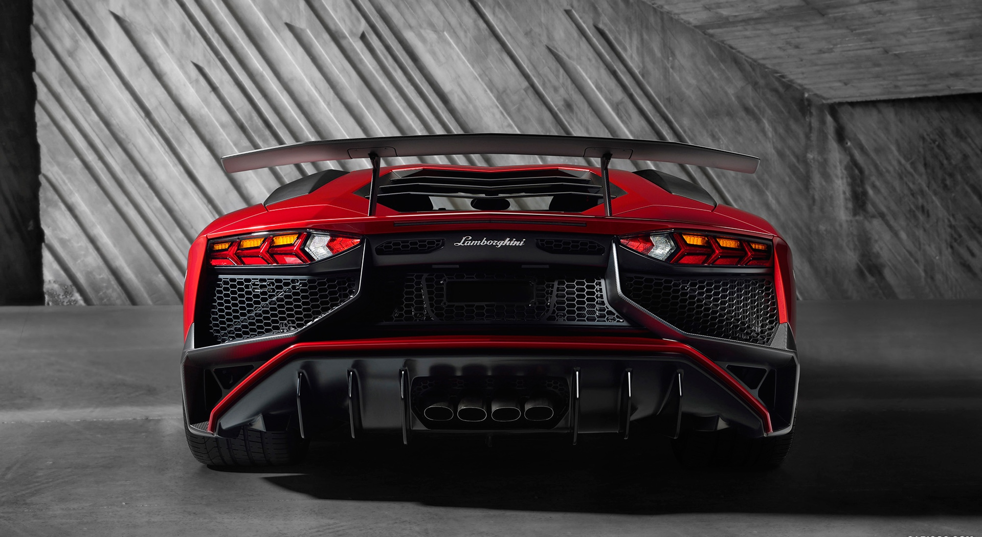lamborghini aventador superveloce HD red