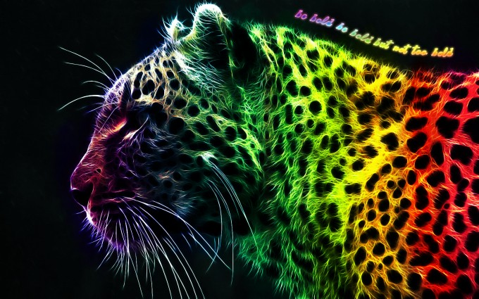 leopard wallpaper colorful