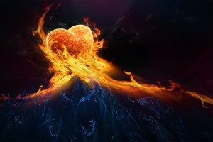 love fire wallpaper