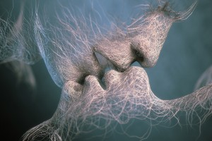 love kiss wallpaper abstract