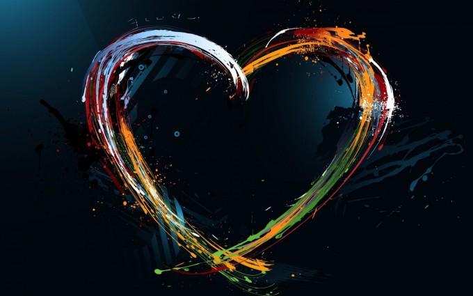 love wallpaper abstract design