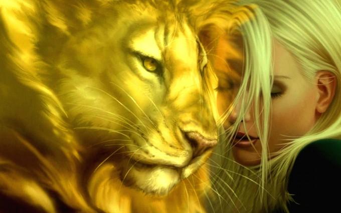 love wallpaper fantasy lion