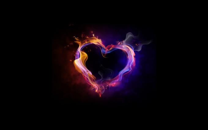 love wallpaper flames
