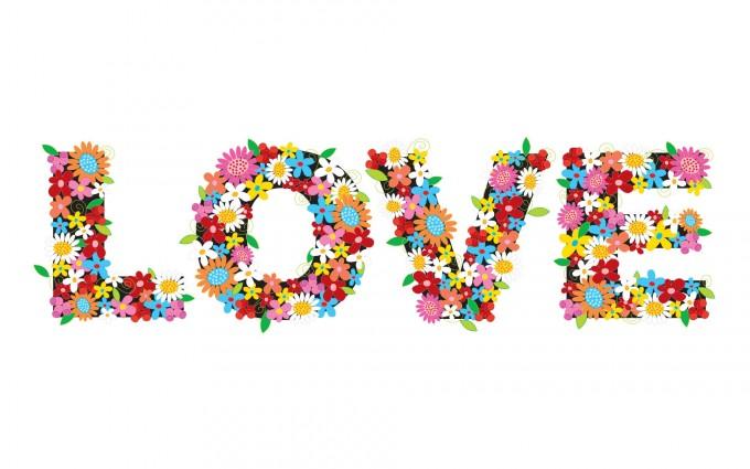 love wallpaper flowers 1080p