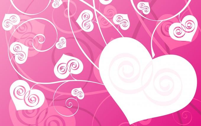 love wallpaper pink heart