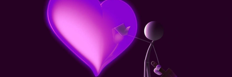 wallpaper purple hearts wallpapers - photo #40