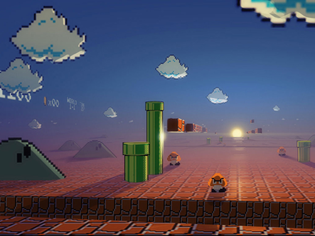 mario hd wallpaper 1366x768