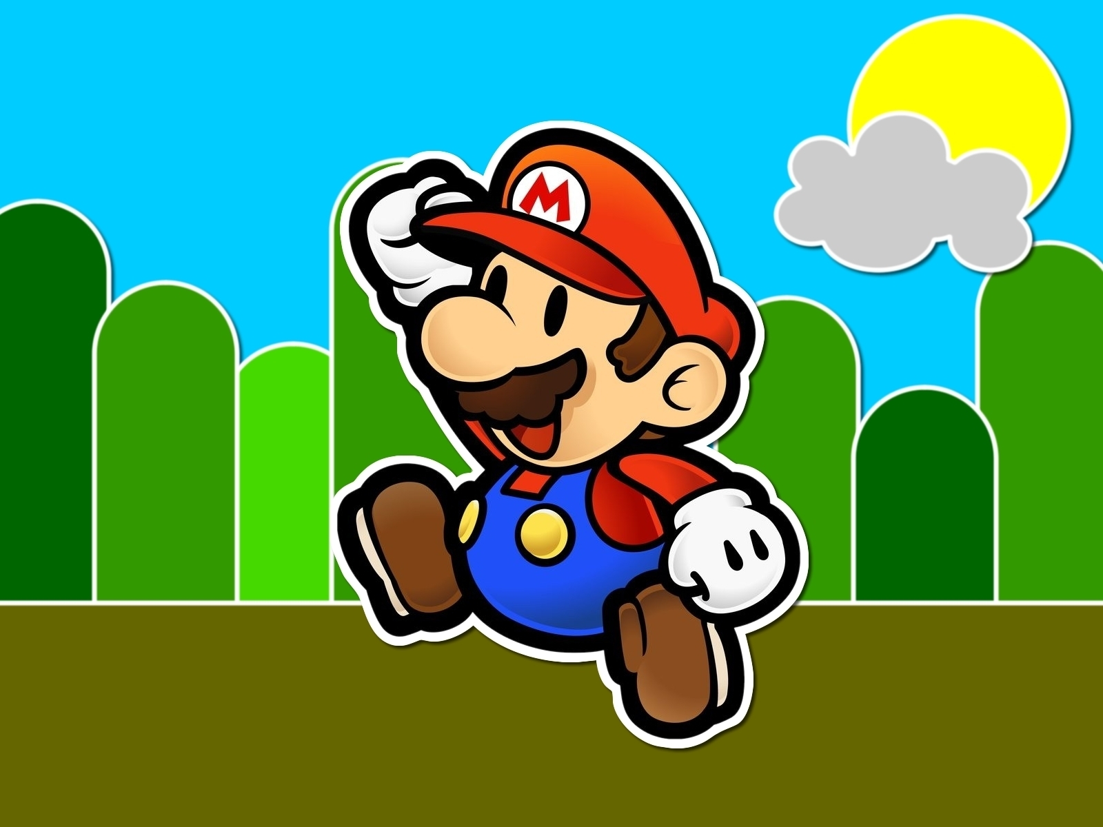 mario wallpaper laptop