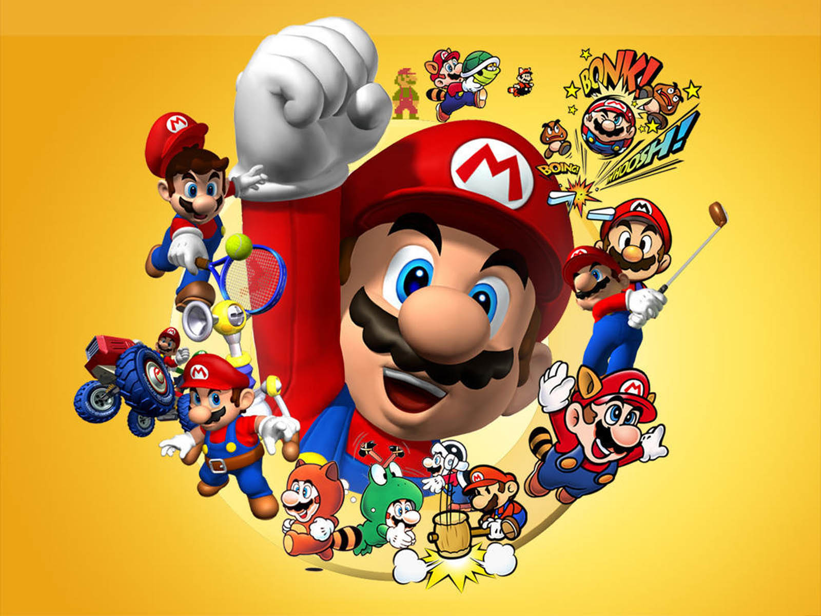 mario wallpaper yellow