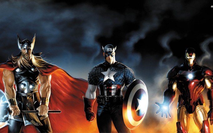 marvel wallpapers thor-captain-america-iron-man