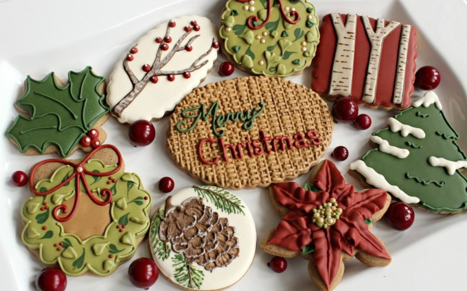 merry christmas wallpapers cookies A3