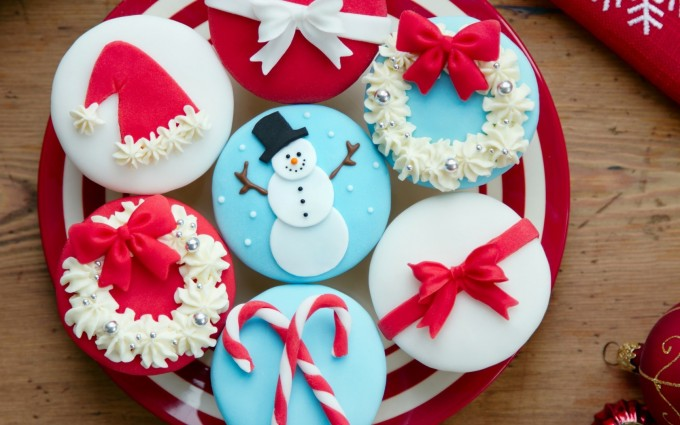 merry christmas wallpapers cute cakes