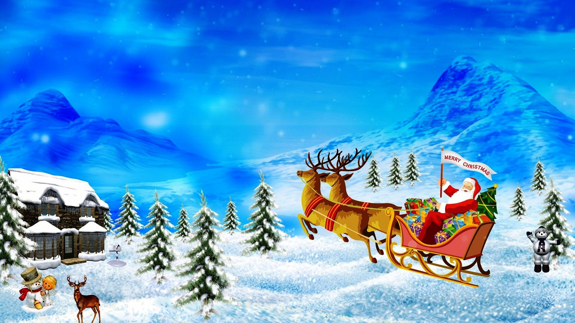 merry christmas wallpapers deer - hd desktop wallpapers | 4k hd