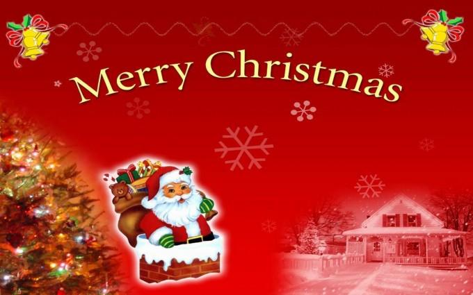merry christmas wallpapers desktop red