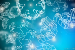 merry christmas wallpapers flakes